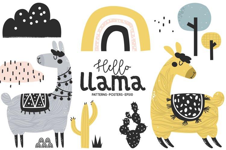Hello llama, Cute Characters