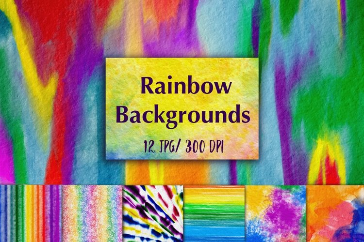 12 Colorful Backgrounds example image 1