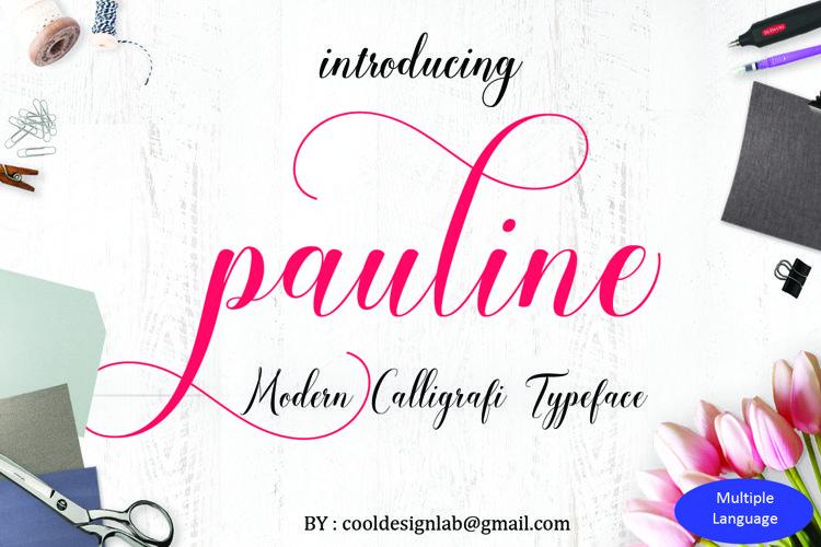 Pauline script 30 OFF
