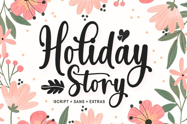 Holiday Story Font Duo example image 1