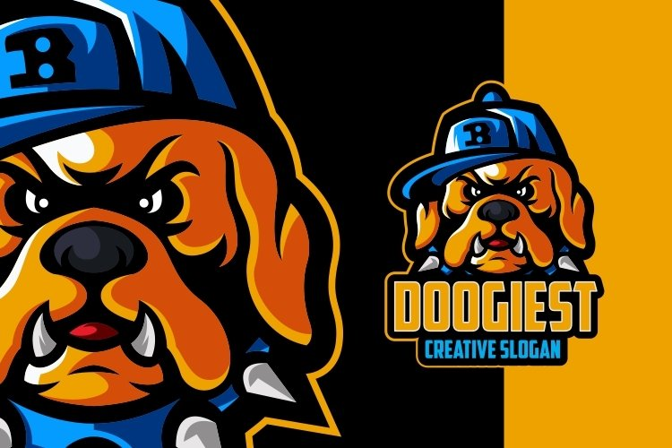 Cool Dog Awesome Logo Template example image 1