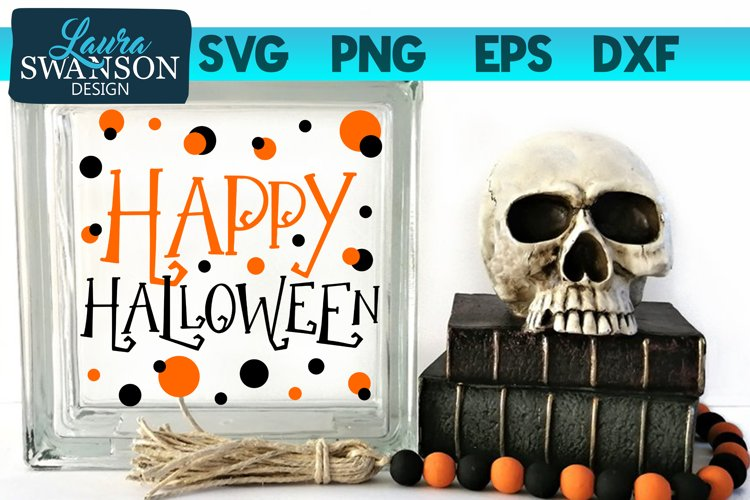 Happy Halloween with Dots SVG Cut File