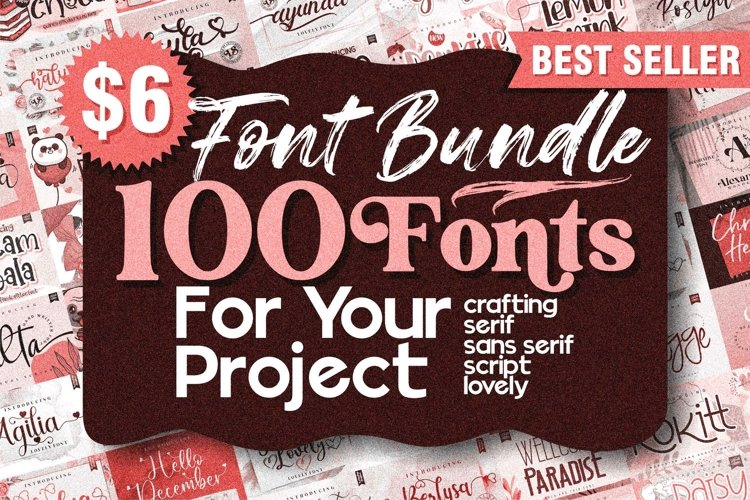 Best Seller - Mega Bundle 100 Fonts