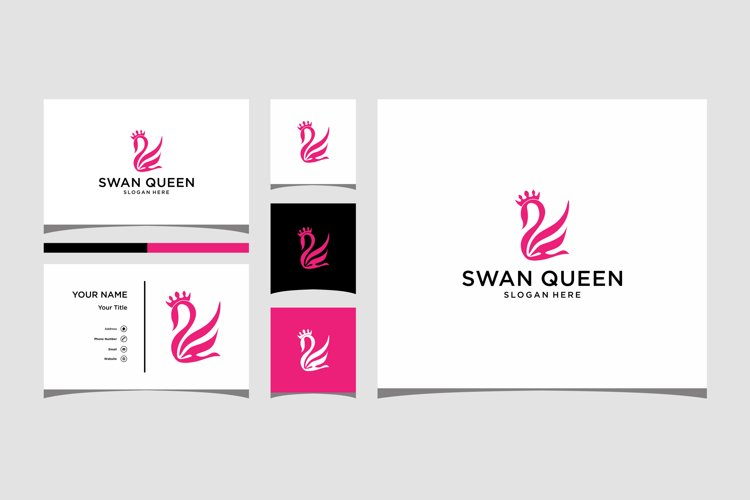 Swan queen logo design premium
