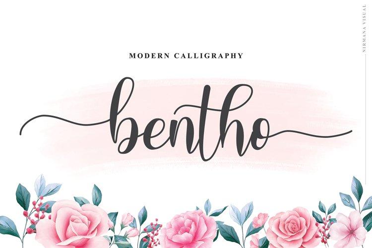 Bento - Script Font example image 1
