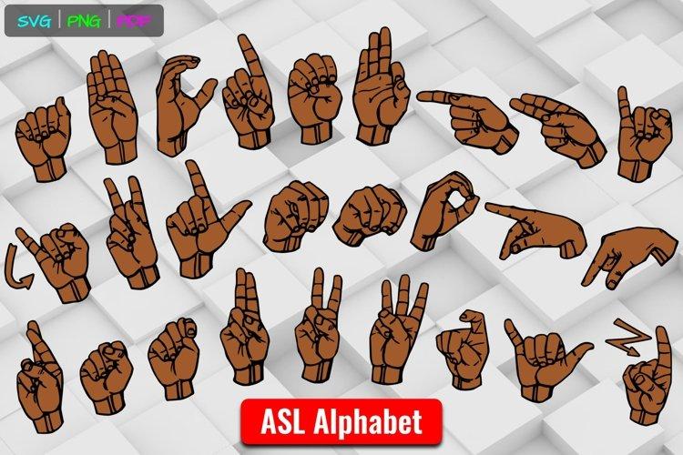 ASL ABCs Brown Alphabet American Sign Language SVG Cut Files