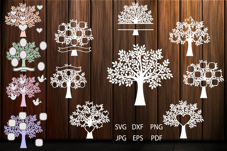 Family Tree SVG, Trees, Tree Cut File, Tree SVG For Cutting