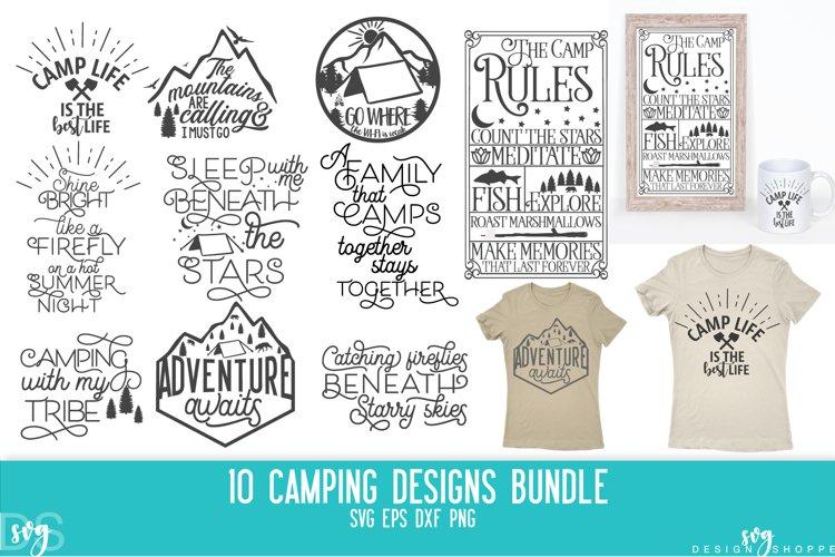Camping, Bundle, Tent, Camper, SVG, PNG, DXF, EPS example image 1
