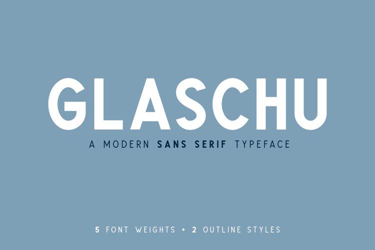 Glaschu Sans Serif Font Family example image 1