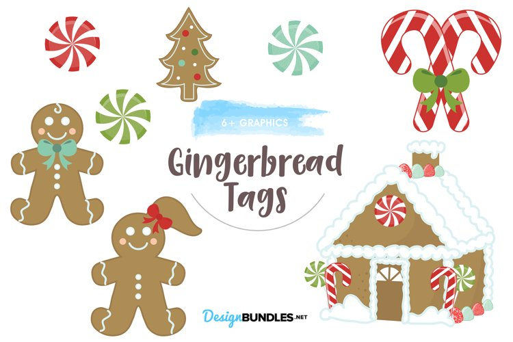 Gingerbread design graphics and illustration