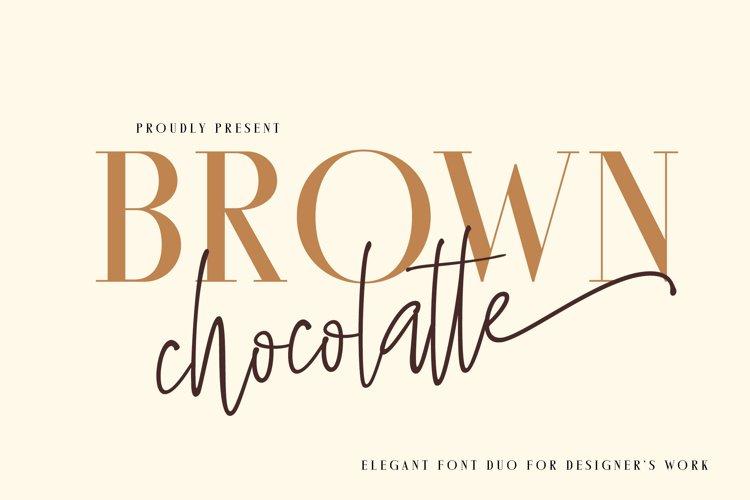 Brown Chocolatte Elegant Duo example image 1
