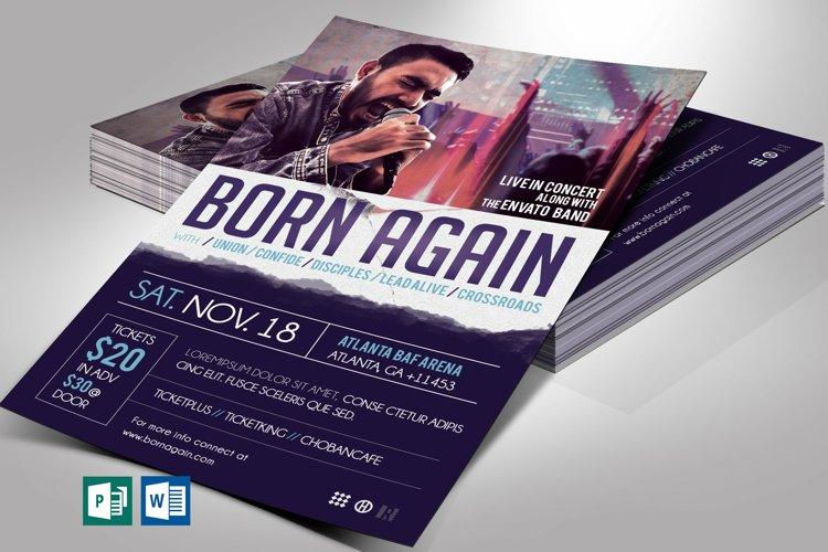Gospel Rock Band Concert Flyer Word Publisher Template
