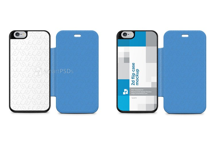 Apple iPhone 6 PU Flip Mobile Case Design Mockup 2014 example image 1