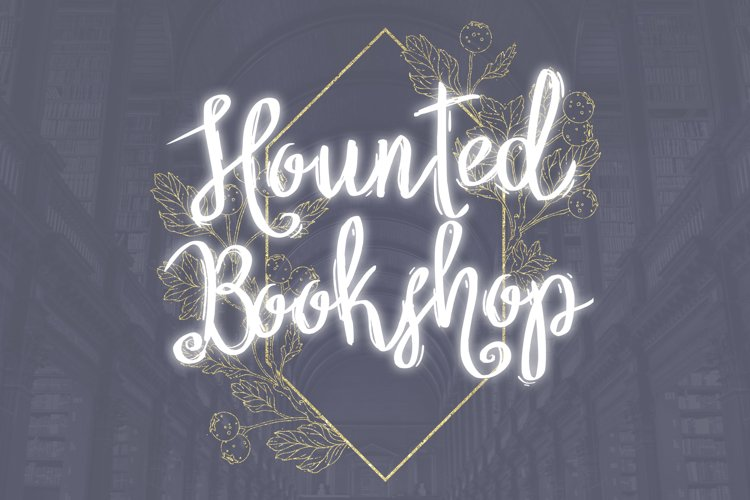 Hounted Bookshop Font example image 1