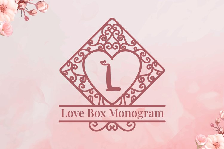 Love Box Monogram example image 1