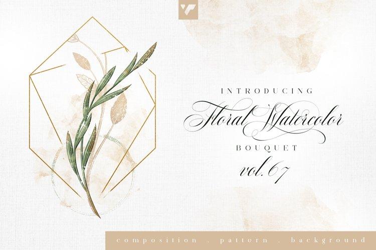 Floral Watercolor Bouquet Vol67