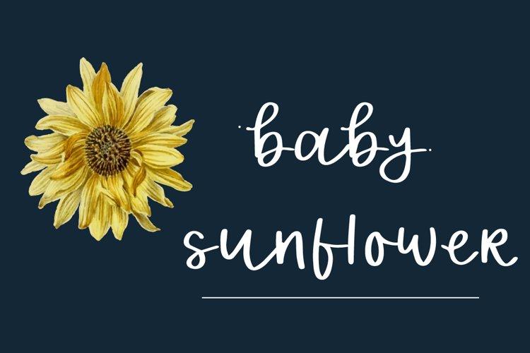 Baby sunflower example image 1