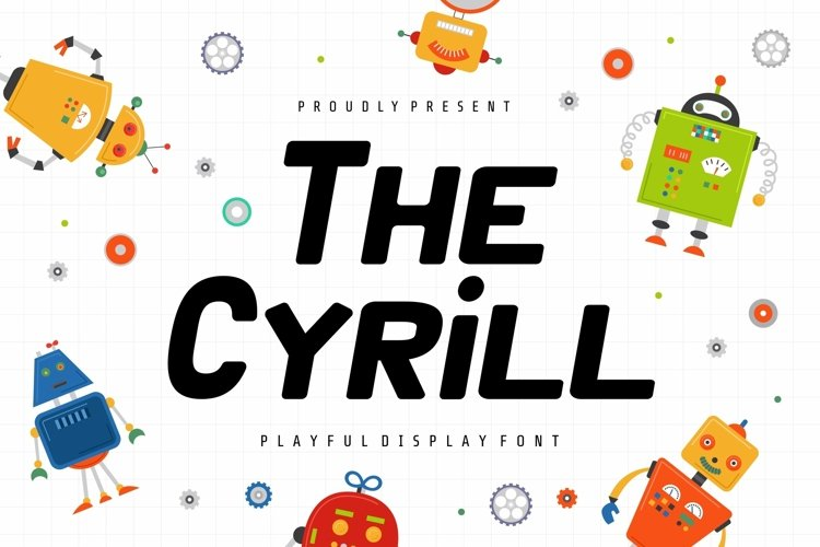 Web Font Cyrill Display Font example image 1