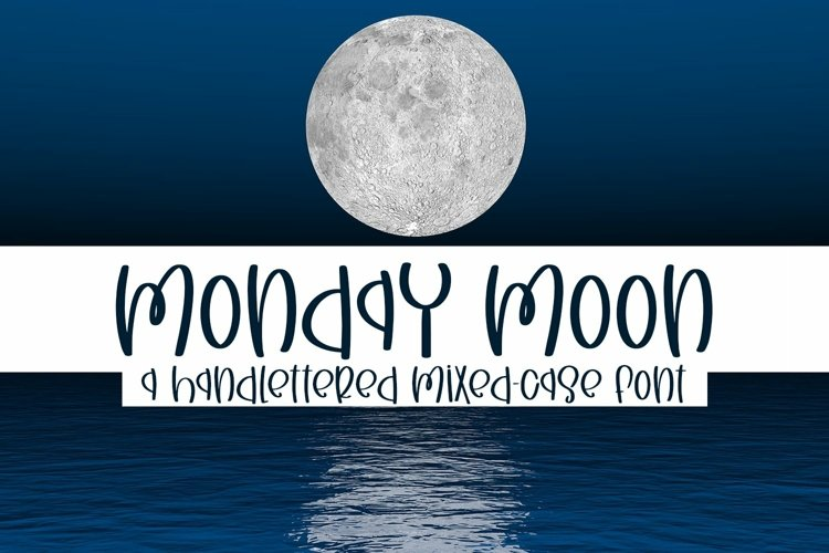 Web Font Monday Moon - A Handlettered Mixed-Case Font example image 1