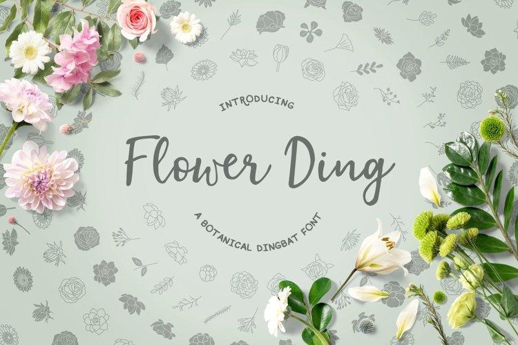 Web Font Flower Ding example image 1