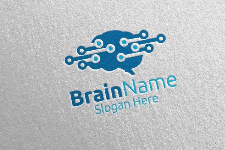 Brain Technology Logo Design 9 example image 1