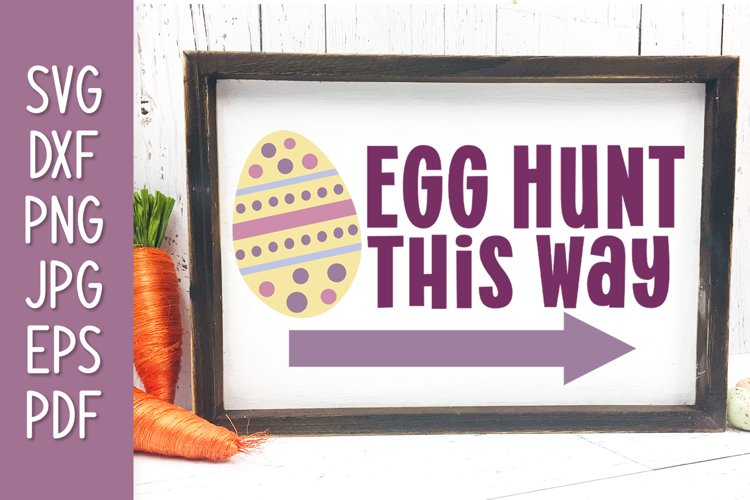 Egg Hunt This Way Easter Sign example image 1