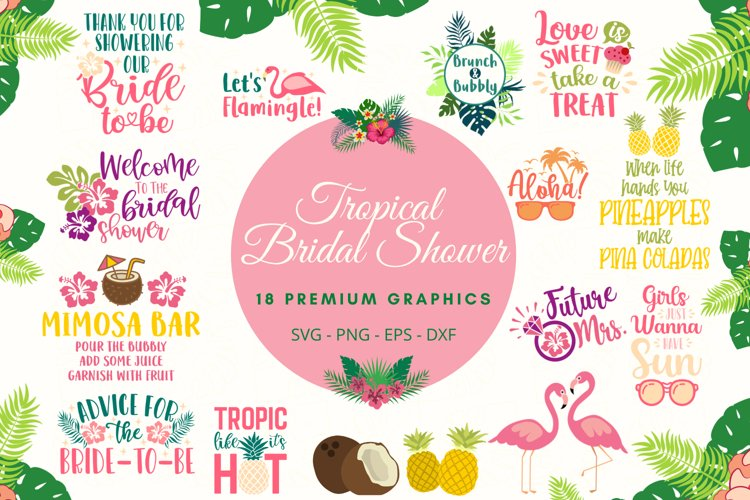 Tropical Bridal Shower example image 1