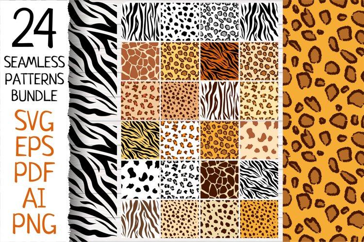 24 Animal seamless patterns
