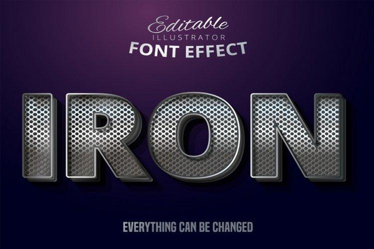 Iron text, editable silvertext effect example image 1