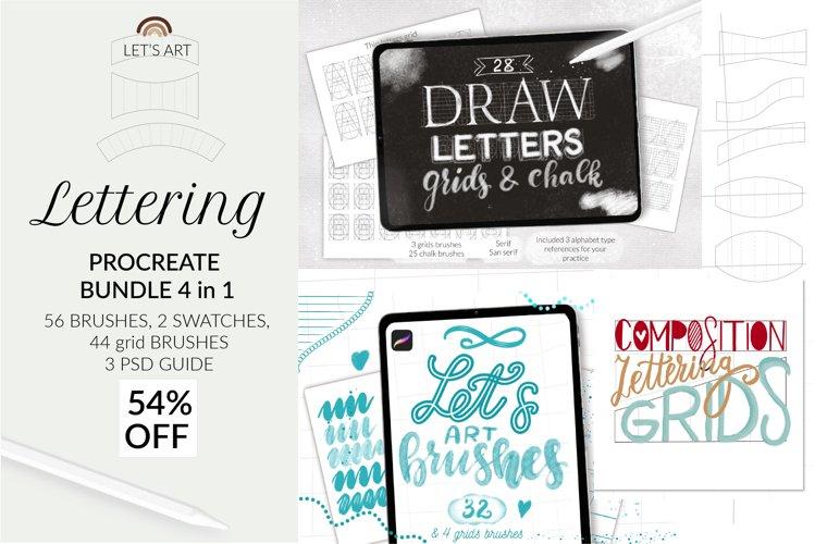 Procreate lettering bundle, grid builde, grids bundle letter