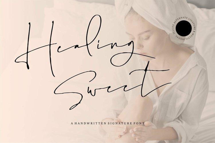 Web Font Healing Sweet - A Handwritten Signature Font example image 1