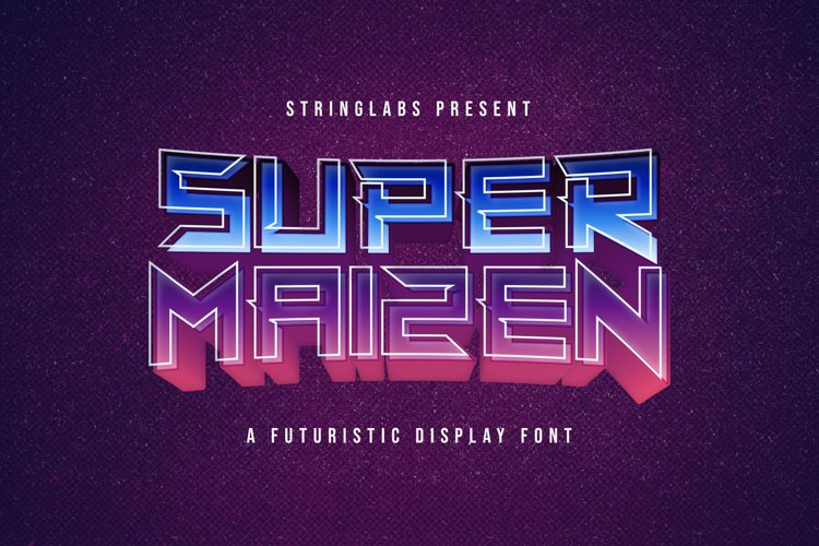 Super Maizen - Modern Futuristic Font example image 1