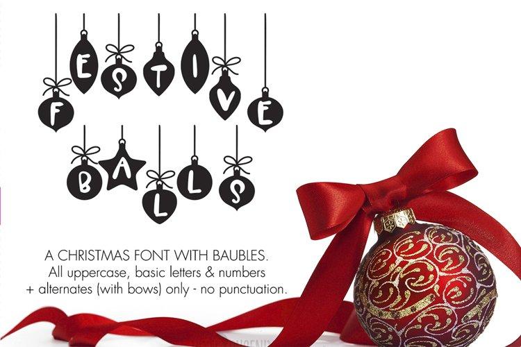 Christmas Font - Festive Balls example image 1