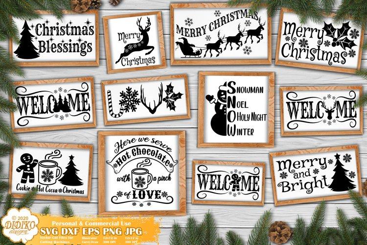 Christmas SVG Bundle | Farmhouse Christmas Signs Bundle example image 1