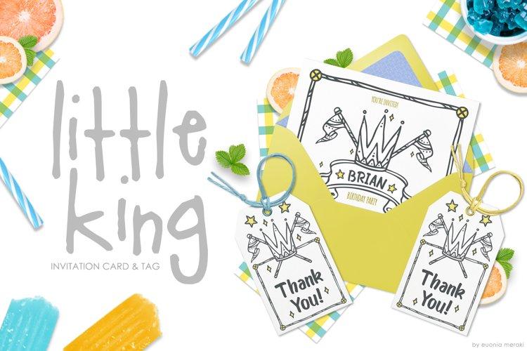 Little King Invitation Set - Kids and boys example image 1