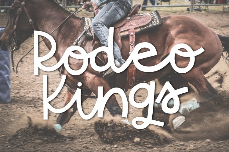 Rodeo Kings - A Handwritten Sriptish Font example image 1