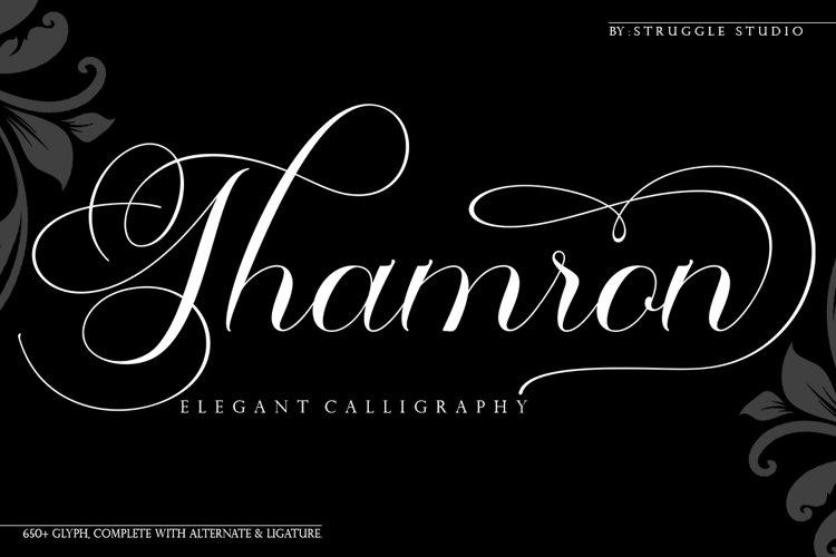 Thamron - Elegant Calligraphy example image 1