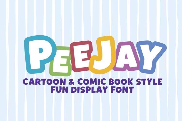 PEEJAY | Cartoon & Comic Book Style Fun Display WEB FONT