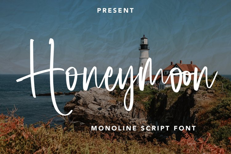 Honeymoon - Monoline Script Font example image 1