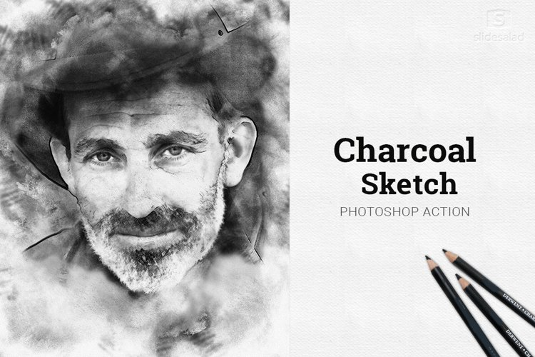 Charcoal Sketch Photoshop Action example image 1
