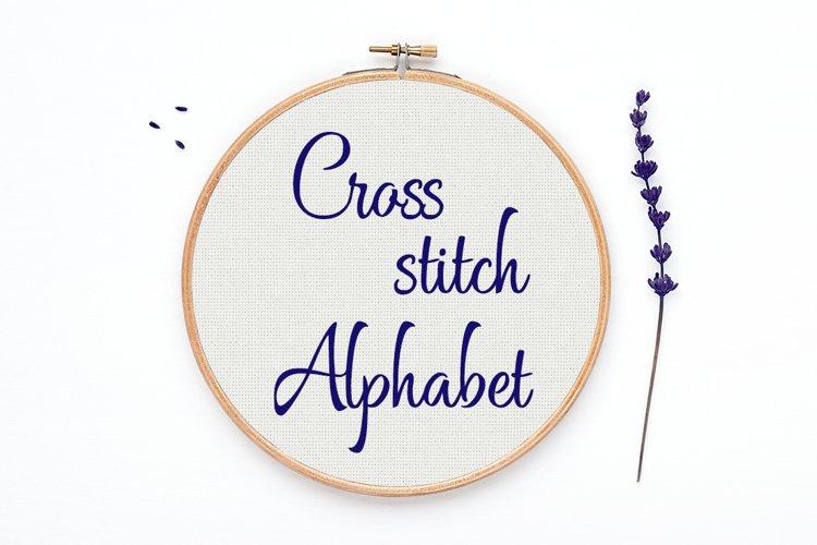 Cross stitch Alphabet pattern - Alph97
