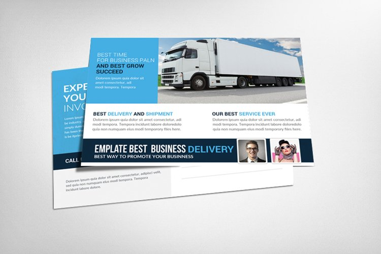 Delivery And Shipment Postcard Template example image 1