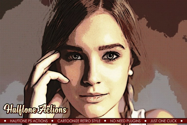 Halftone Comic Book Effect - 8 Photoshop Actions