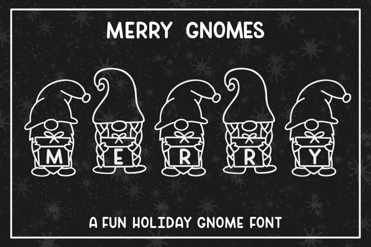 Merry Gnomes - A fun holiday gnome font example image 1