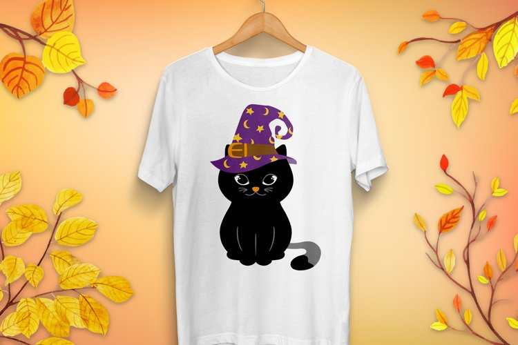 Halloween Cat in Witch Hat SVG - Halloween cut files