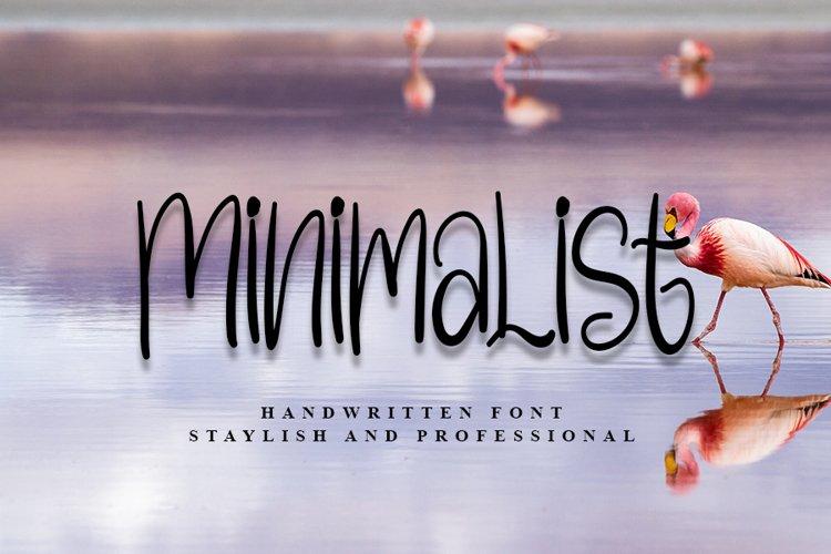 Minimalist   Beautiful Handwritten Font example image 1