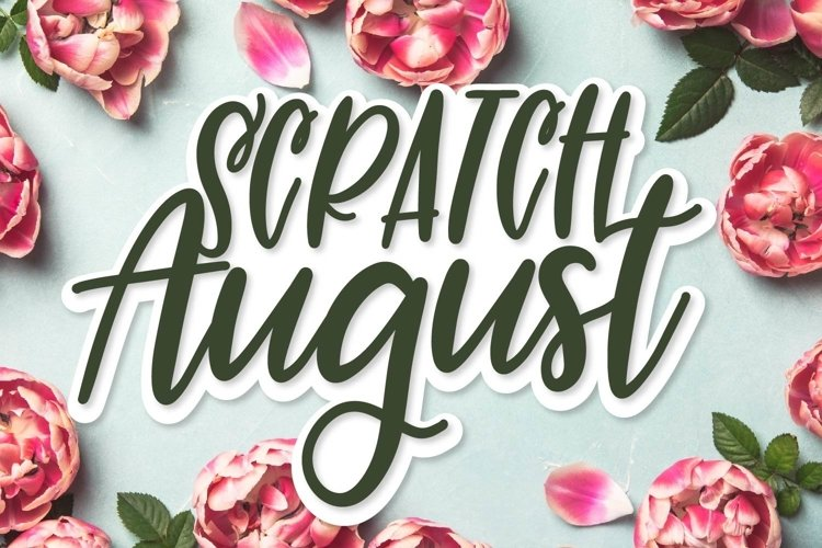 Web Font Scratch August - A Superb Hand Lettered Duo example image 1