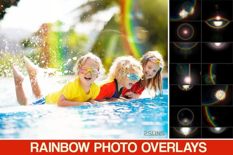Rainbow overlays & textures, rainbow action, rainbow preset example image 1