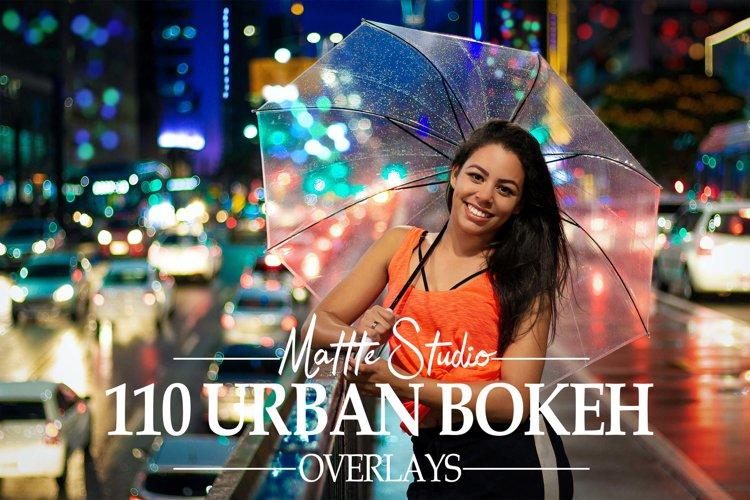 110 Urban Bokeh Overlays, Street Night Photoshop Overlay example image 1