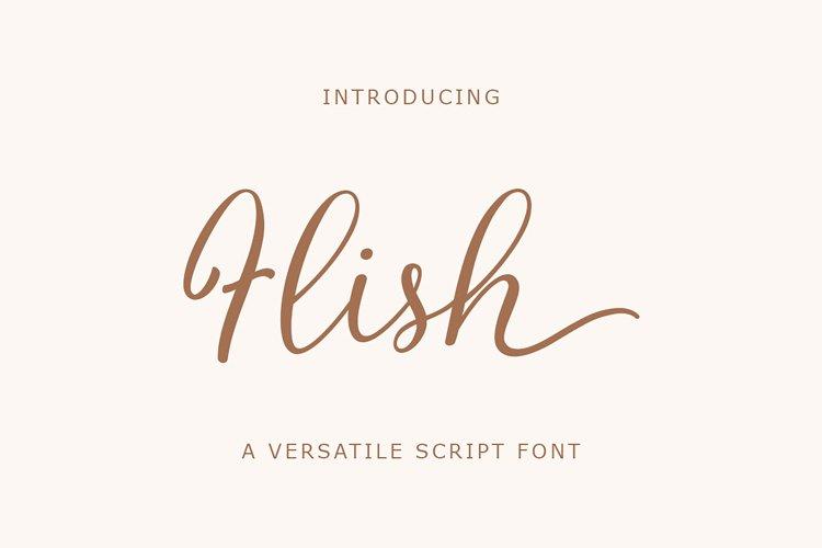 Flish Script - Webfont example image 1